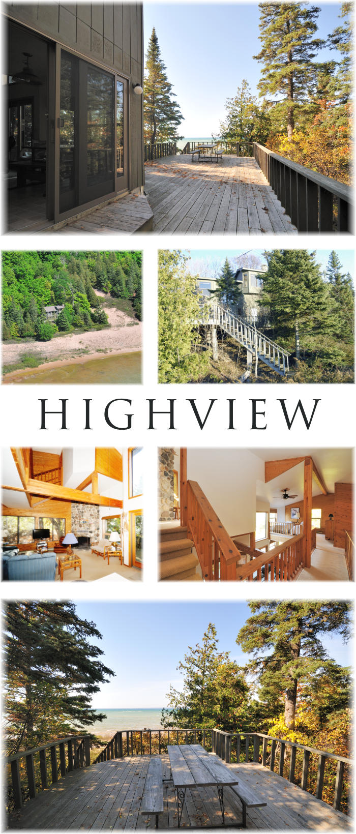 Beachfront House For Rent - Highview - View of High Island from large deck