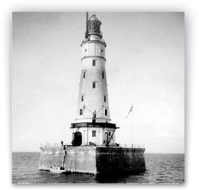 Waugoshance Point Lighthouse historical photograph in service