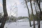 Internet Towers partially erected on Island