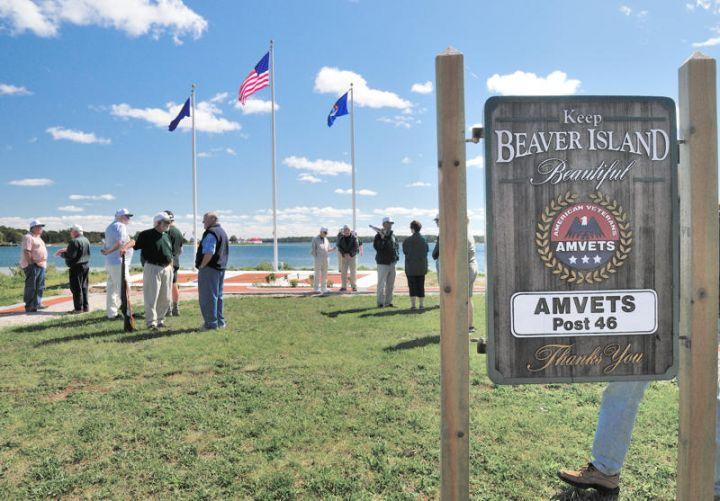 AmVets Flag Raising at the new Veterans Park