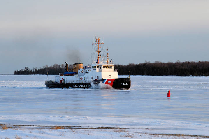 Biscayne Bay makes a late run at the ice near Whiskey Point