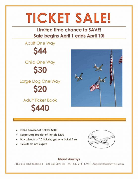 Island Airways Ticket Sale